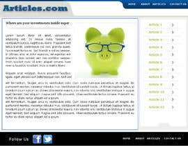#12 para Redesign Webpage for Articles por magnifiquedesign