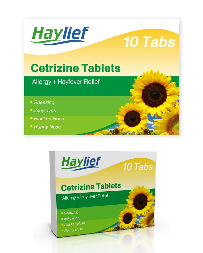 "Penyertaan Peraduan #39 untuk Design a Logo for New Hayfever Tablet Box called ""Haylief"""