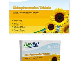 "#41 untuk Design a Logo for New Hayfever Tablet Box called ""Haylief"" oleh suneshthakkar"
