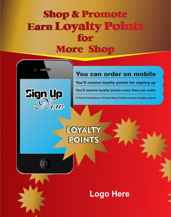 #2 for Design a promotional poster for a mobile app and loyalty programme by oxygenwebtech