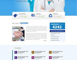 #5 for Design a Website Mockup for mlrems.org using henriettaambulance.org as design template by zumanur