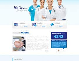 #14 for Design a Website Mockup for mlrems.org using henriettaambulance.org as design template by zumanur