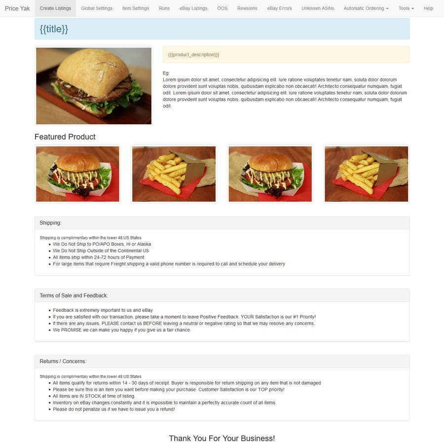 Entry 4 By Huykon225 For I Need Html For Ebay Listing Templates