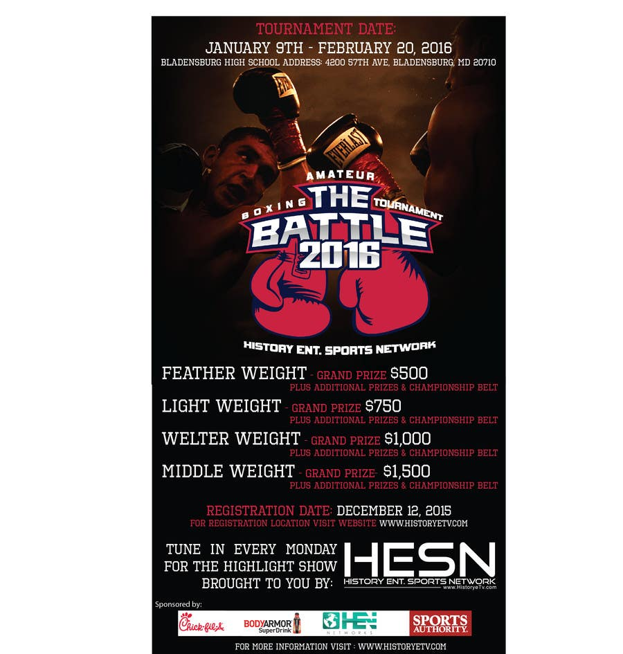Contest Entry #                                        13                                      for                                         Design a Flyer for my Boxing tournament Easy money!