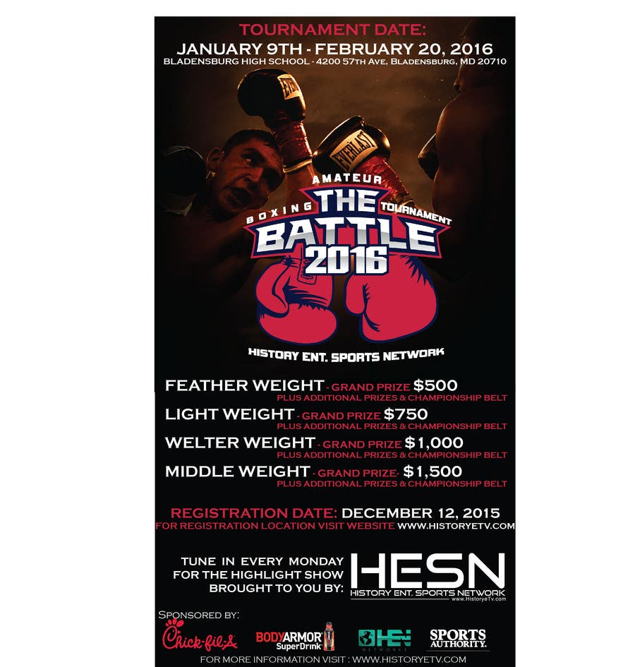 Contest Entry #                                        15                                      for                                         Design a Flyer for my Boxing tournament Easy money!