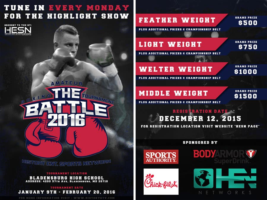 Contest Entry #                                        7                                      for                                         Design a Flyer for my Boxing tournament Easy money!