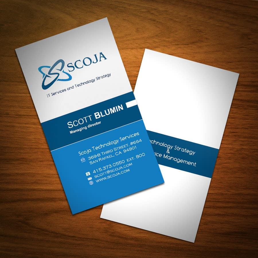 Bài tham dự cuộc thi #                                        254                                      cho                                         Business Card Design for SCOJA Technology Partners