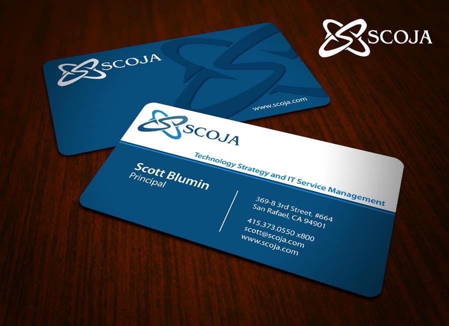 Konkurrenceindlæg #                                        313                                      for                                         Business Card Design for SCOJA Technology Partners