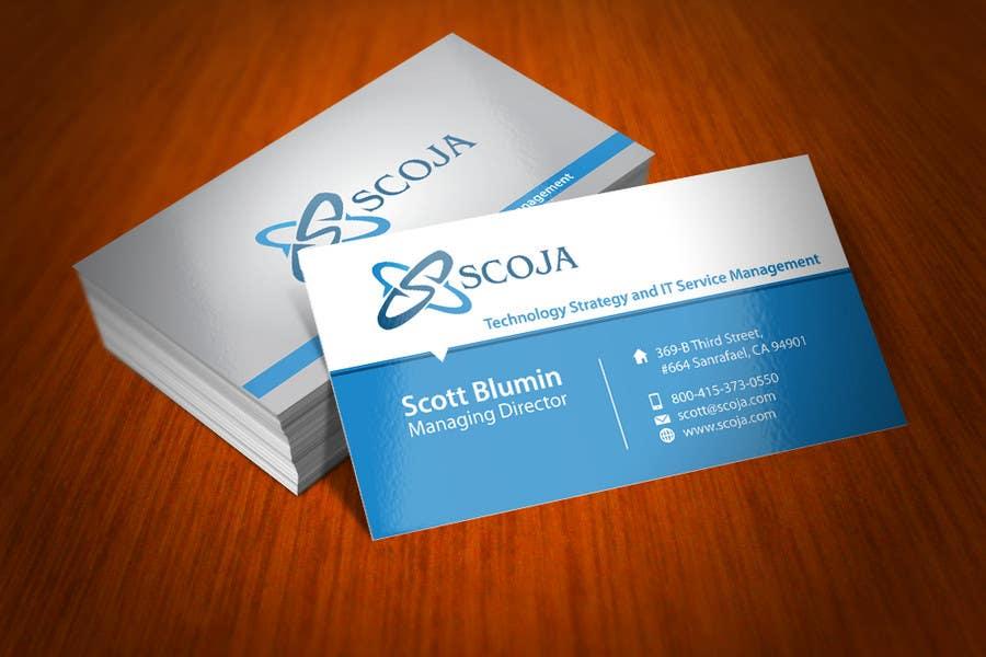 Konkurrenceindlæg #                                        146                                      for                                         Business Card Design for SCOJA Technology Partners