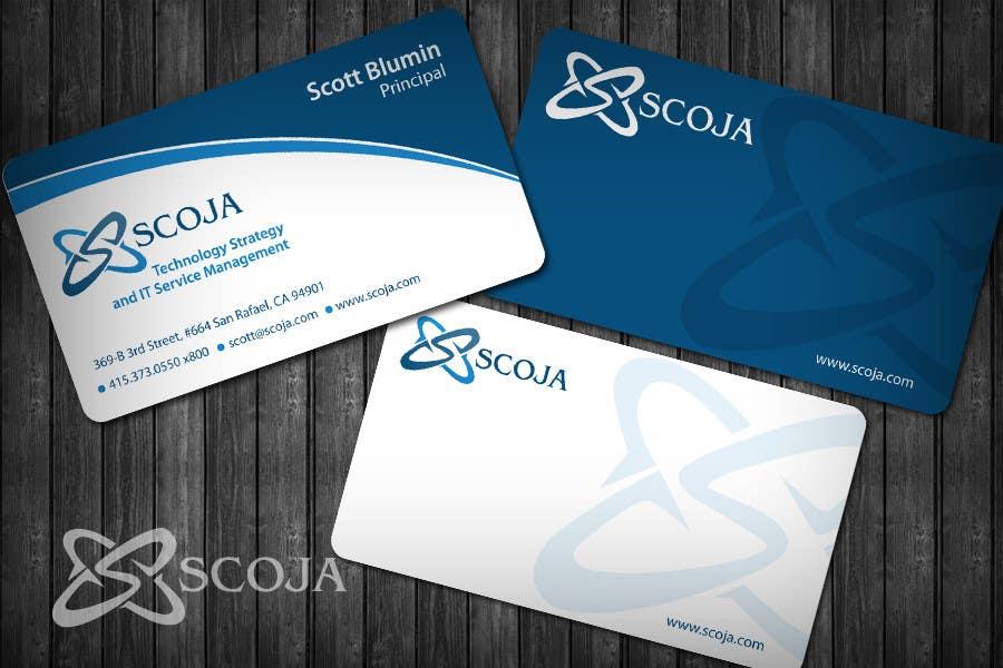 Konkurrenceindlæg #                                        353                                      for                                         Business Card Design for SCOJA Technology Partners