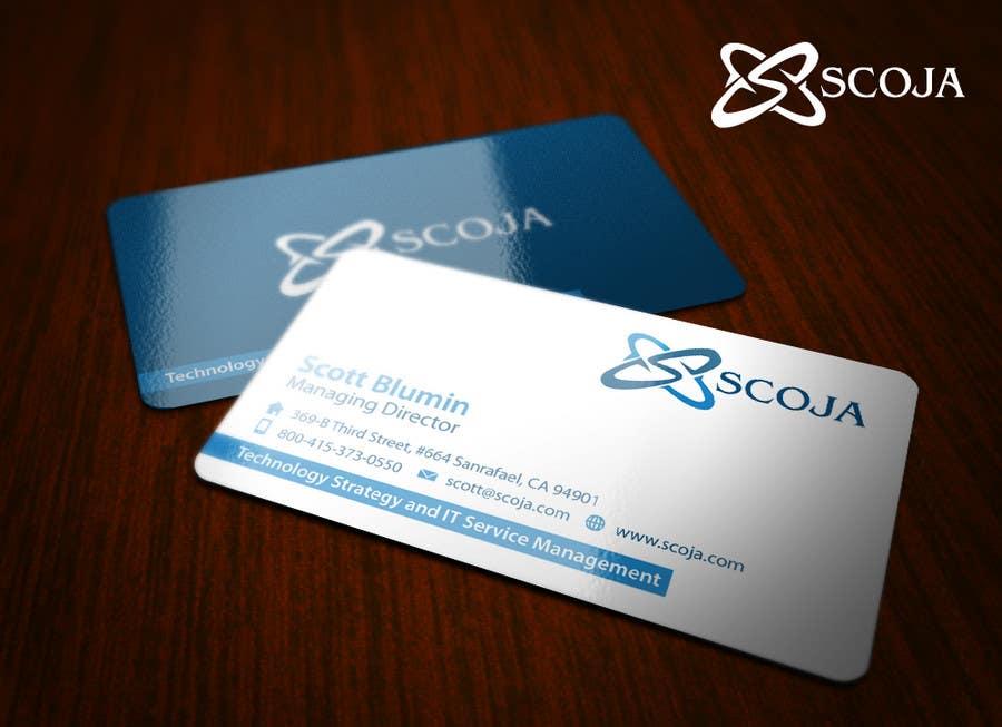 Konkurrenceindlæg #                                        119                                      for                                         Business Card Design for SCOJA Technology Partners
