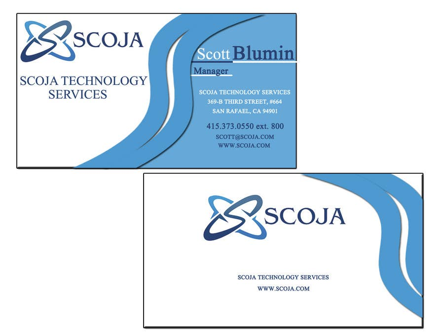 Konkurrenceindlæg #                                        29                                      for                                         Business Card Design for SCOJA Technology Partners