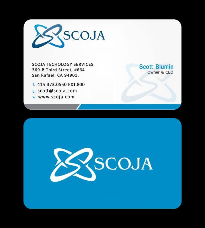 Konkurrenceindlæg #                                        291                                      for                                         Business Card Design for SCOJA Technology Partners