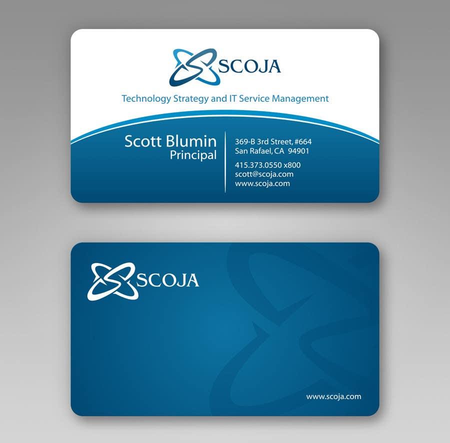 Bài tham dự cuộc thi #                                        322                                      cho                                         Business Card Design for SCOJA Technology Partners