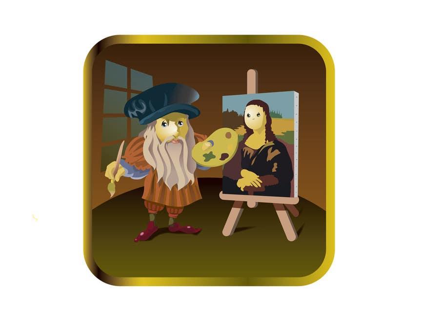 Image result for leonardo da vinci cartoon