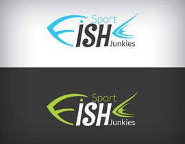 #132 untuk Logo Design For Sport Fish Junkies Website oleh snali