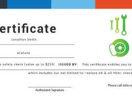 Nro 7 kilpailuun Design a gift certificate designed using supplied logo käyttäjältä shorowar