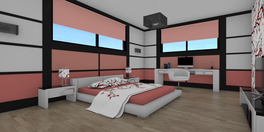 Design a Teenage Girl Bedroom Suite with Japanese Touch ...
