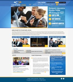 #11 for Home page design plus logo - legal site by MagicalDesigner