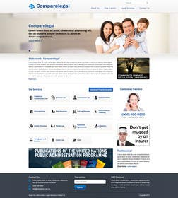 #2 for Home page design plus logo - legal site by nitinatom