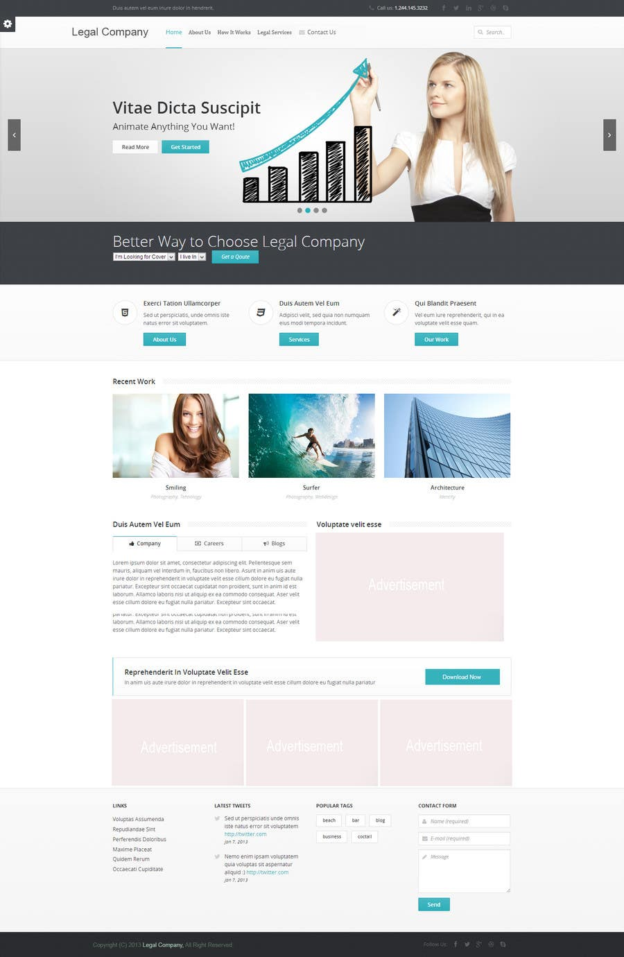 #4 for Home page design plus logo - legal site by jamshaidrazaCG