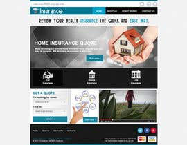 nº 4 pour Home page design plus logo - Insurance site par designBox16