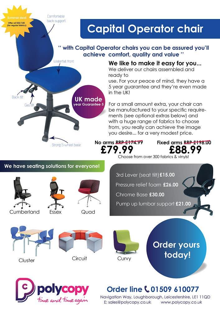 Penyertaan Peraduan #2 untuk Chair flyer A4