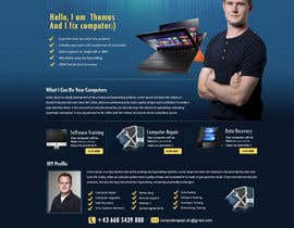 nº 24 pour Design a single Page Website with Logo for a PC repair service par MagicalDesigner