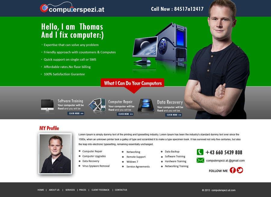 Bài tham dự cuộc thi #                                        33                                      cho                                         Design a single Page Website with Logo for a PC repair service