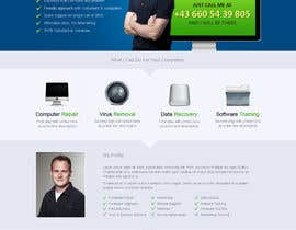 uniqueclick tarafından Design a single Page Website with Logo for a PC repair service için no 19