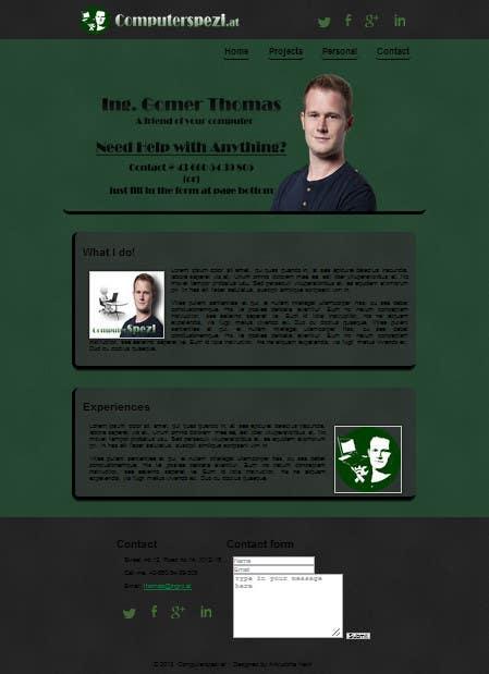 Bài tham dự cuộc thi #                                        30                                      cho                                         Design a single Page Website with Logo for a PC repair service