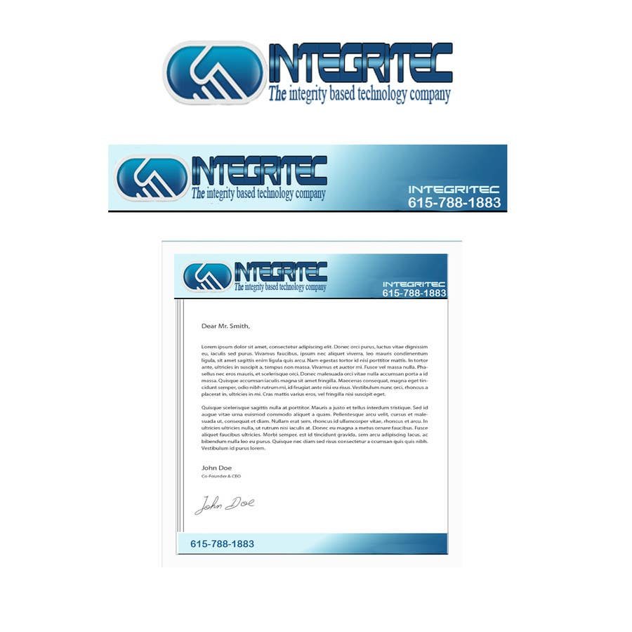 Contest Entry #39 for Edit an existing logo and provide letterhead and website banner