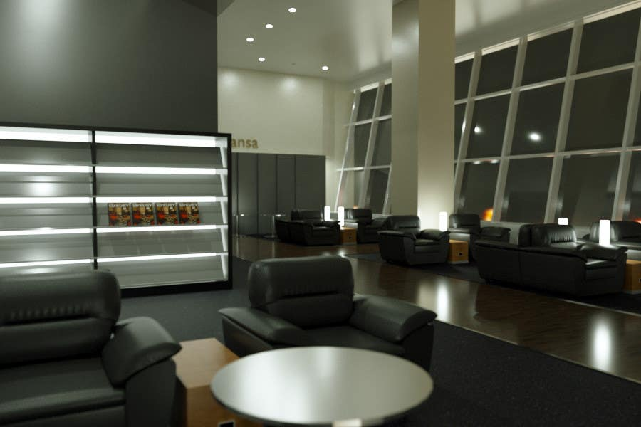 Contest Entry #7 for CGI Interior Design First Class Airline Lounge