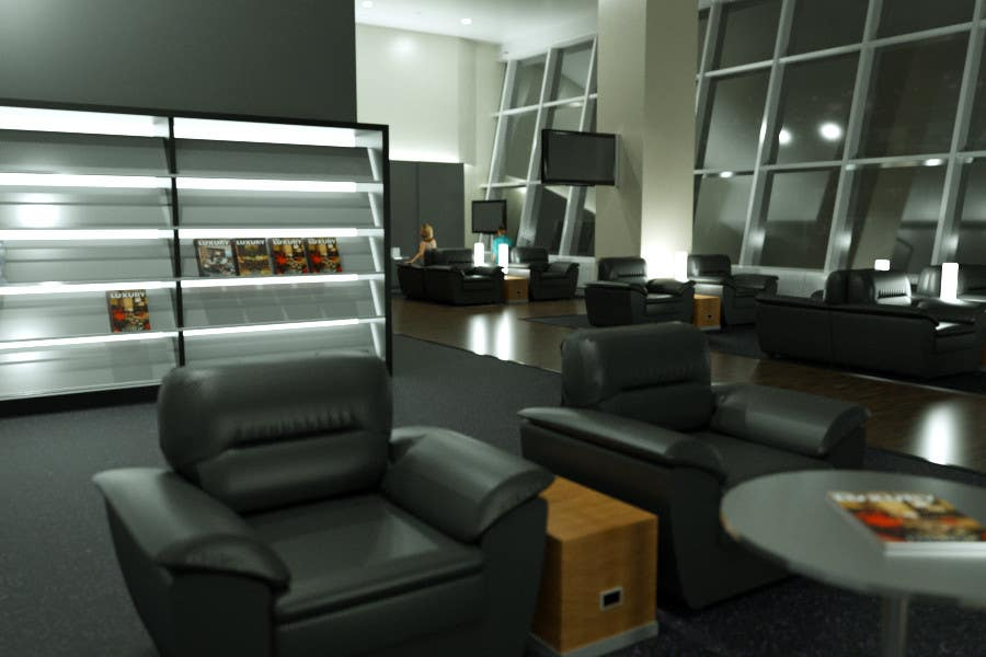 Contest Entry #                                        9                                      for                                         CGI Interior Design First Class Airline Lounge