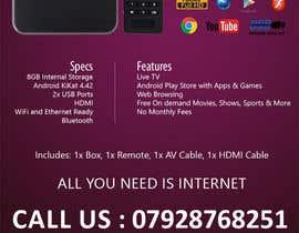 """Nro 2 kilpailuun Design a simple 4"""" x 6"""" Flyer for Android TV Boxes käyttäjältä BeeWorker"""