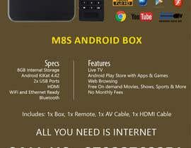"""Nro 5 kilpailuun Design a simple 4"""" x 6"""" Flyer for Android TV Boxes käyttäjältä BeeWorker"""