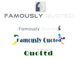 #20 para Design a Logo for Famously Quoted por Manikanteswar