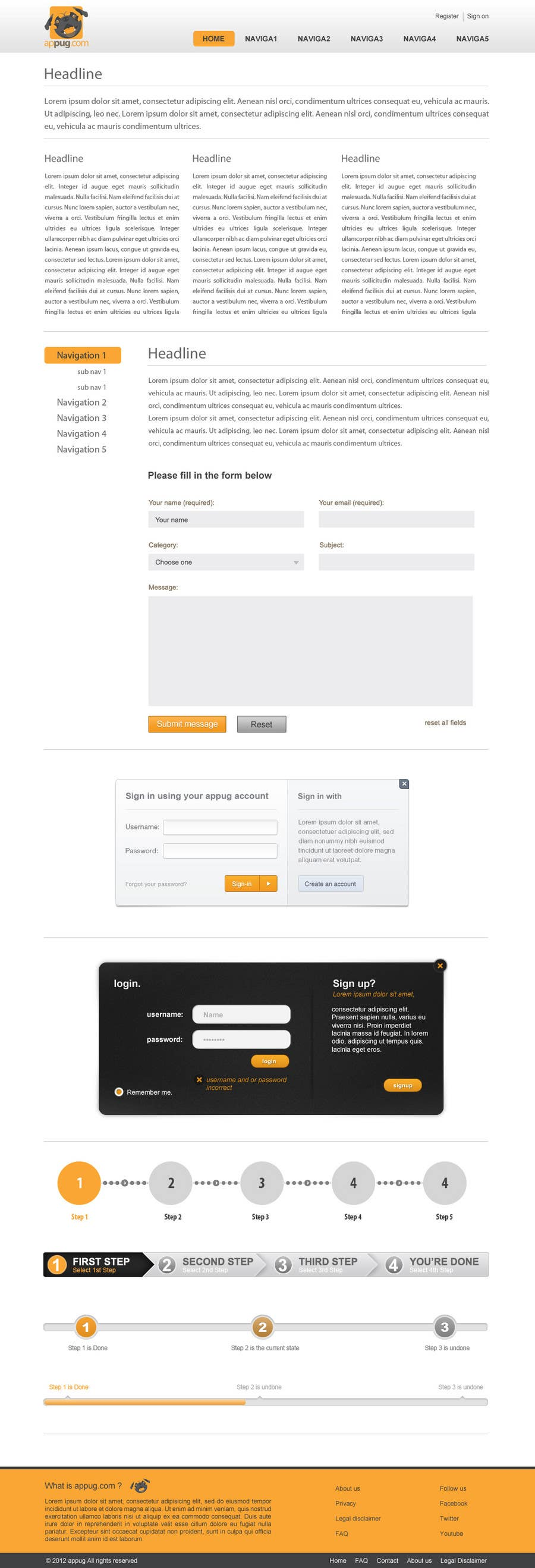 Конкурсная заявка №                                        14                                      для                                         Website Design for Appug.com, a new online messaging service (generic web page).