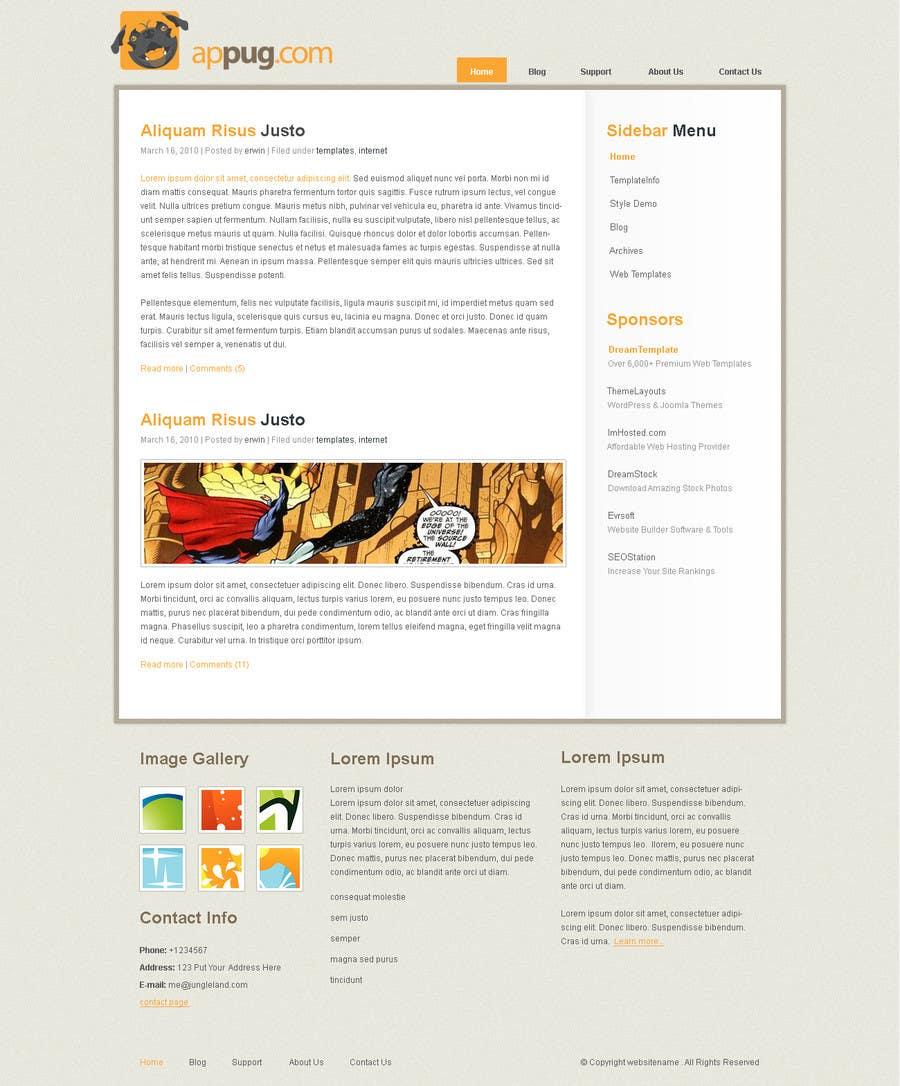 Конкурсная заявка №                                        24                                      для                                         Website Design for Appug.com, a new online messaging service (generic web page).