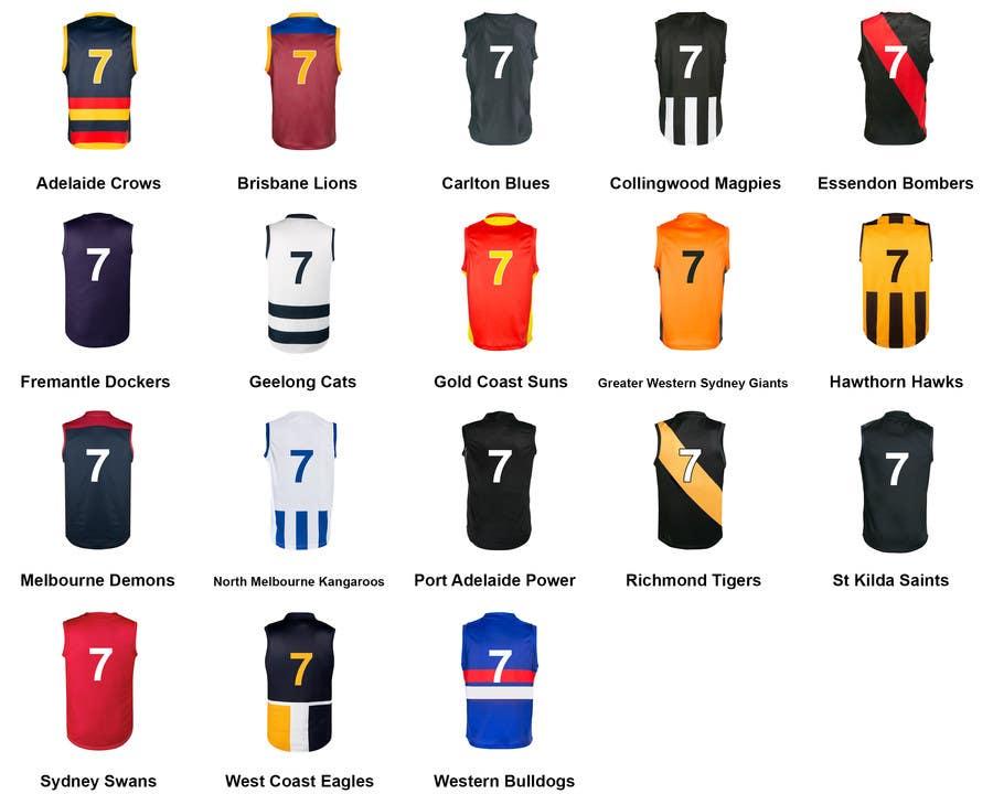 Australian Rules Football Jerseys | Freelancer