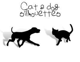 #14 for Illustration of a dog silhouette and a cat silhouette af GabrielaNastase