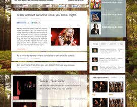 #7 para Design a Website Mockup for My Indie Music Blog por Soniyakumar