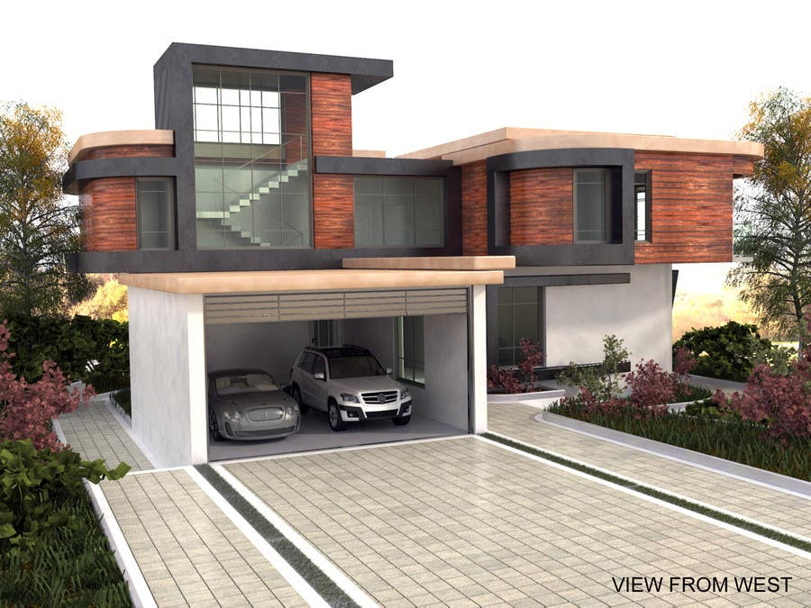 3d model for modern house in cold climate