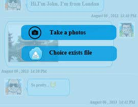 dvdinh307 tarafından Freelancer Messenger Android App Mockup için no 1