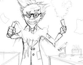 #5 untuk Mad Scientist Illustration oleh DragonFlamely