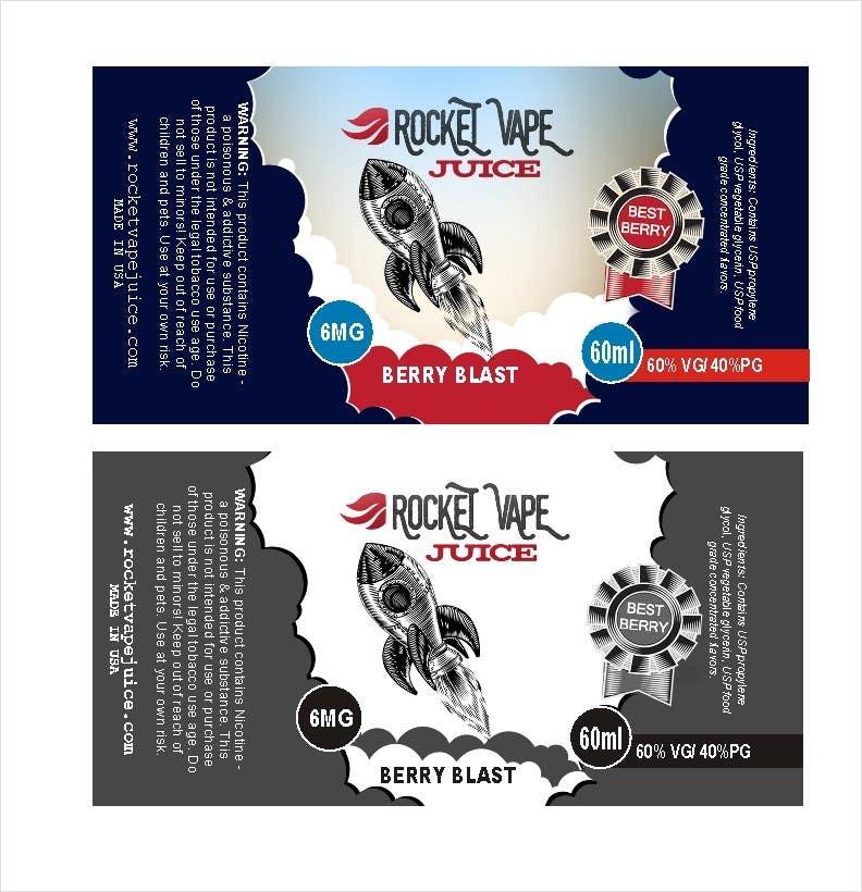 Contest Entry 3 For Vape Juice LABEL Graphic Design