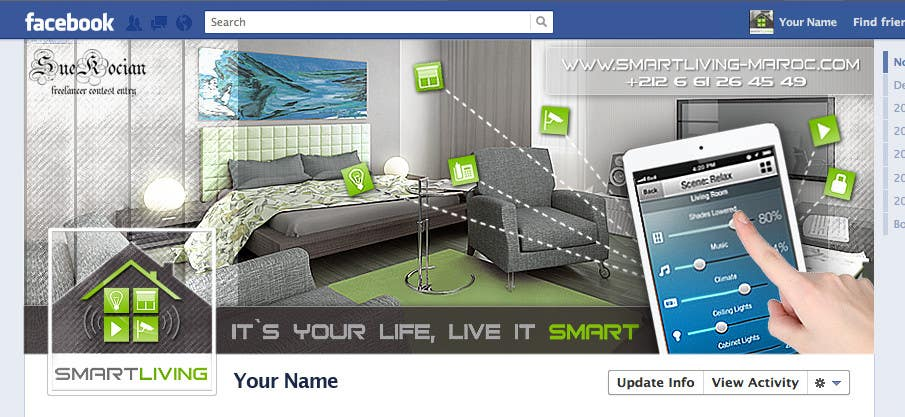Contest Entry #24 for Design a banner for facebook/Website for home automation company