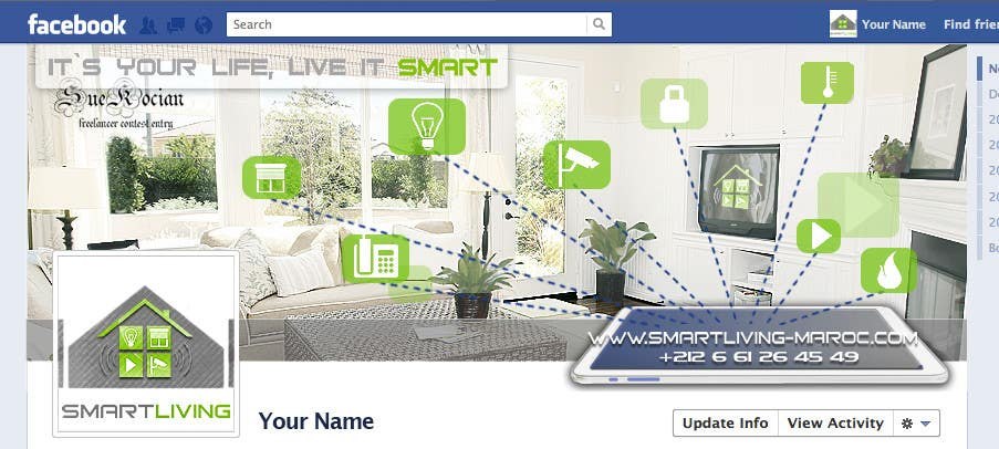 Kilpailutyö #25 kilpailussa Design a banner for facebook/Website for home automation company