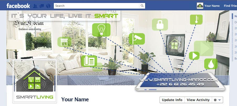 Kilpailutyö #26 kilpailussa Design a banner for facebook/Website for home automation company