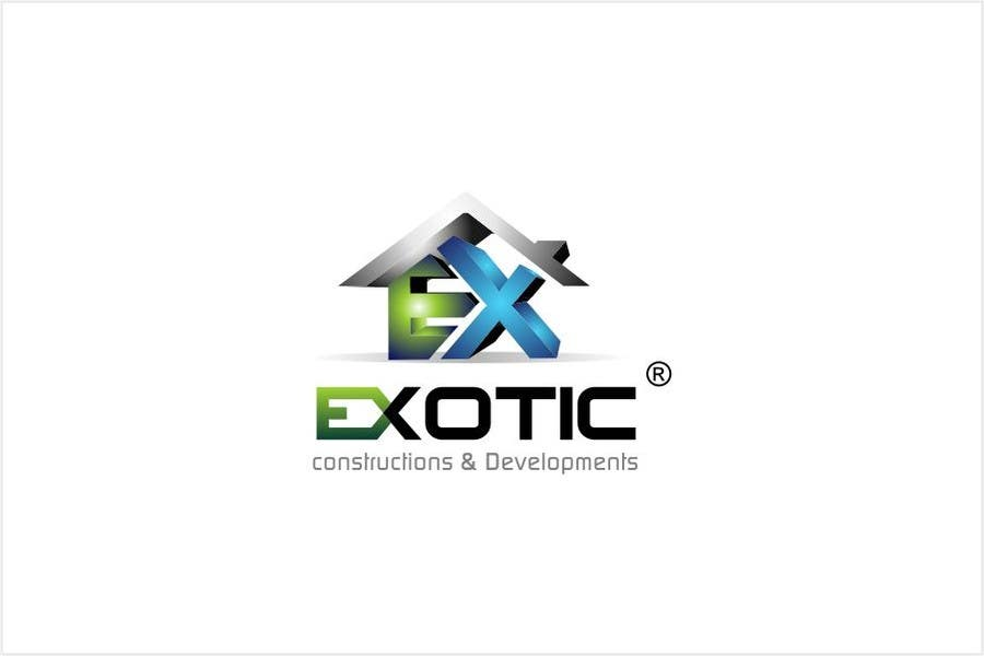 """#261 for Design a conceptual and intelligent Logo for the word """"EXOTIC"""" along with a punchline/ tagline (optional) by timedsgn"""